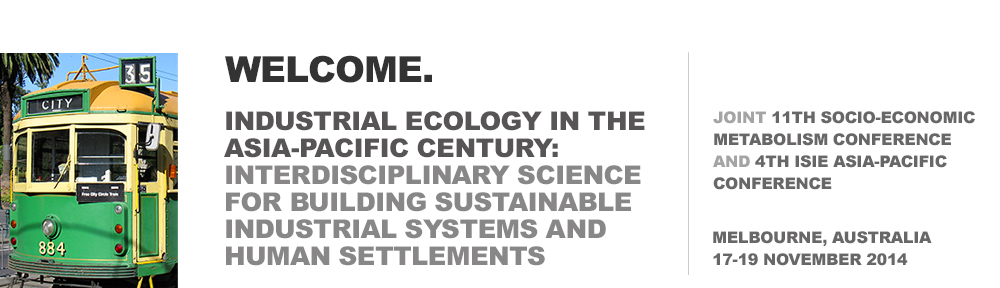 ISIE Socio-Economic Metabolism and Asia-Pacific Conference 2014