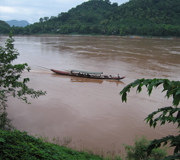 Boat on the Lower Mekong River