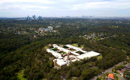 Aerial photo of CSIRO Lindfield looking towards the Sydney CBD